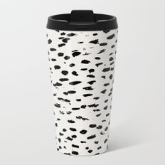 Modern Polka Dots Metal Travel Mug