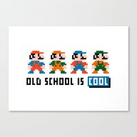mario Canvas Prints featuring Mario by PixelPower