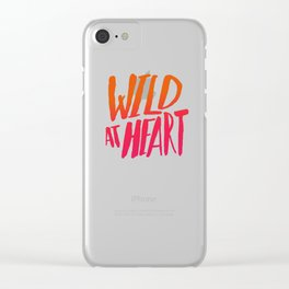 Wild At Heart x Typography Flame Ombre Clear iPhone Case