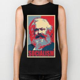 Karl Marx Socialism Propaganda Biker Tank