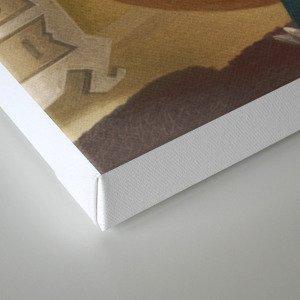 A cat reading a book Canvas Print