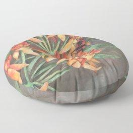 Milkweed Flowers and Milkweed Bug Floor Pillow