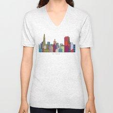 San Francisco city skyline Unisex V-Neck