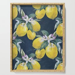 Lemons pattern Serving Tray