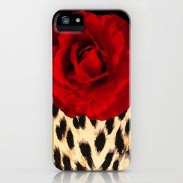 Leopard Rose by Lika Ramati iPhone Case