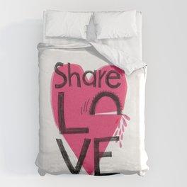 Share love Duvet Cover