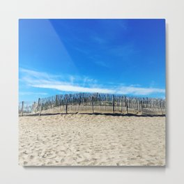 Sand dunes in the south of France Metal Print