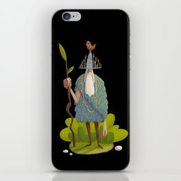 Woodsman (black background) iPhone Skin