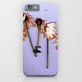 Dead flowers iPhone Case