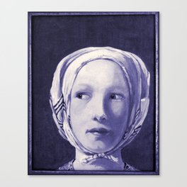 The Thief in Indigo Canvas Print