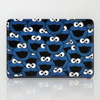 cookie monster iPad Cases featuring Cookie Monster  by aldarwish