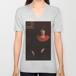 African-American 1925 Classical Masterpiece the Octoroon Girl by Archibald Motley Unisex V-Neck