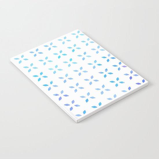 Blue diamond pattern Notebook