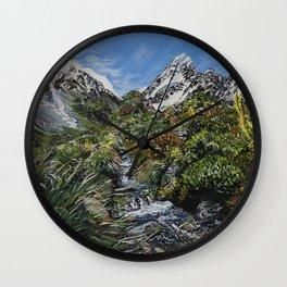 Mt Cook, New Zealand Wall Clock