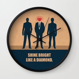 Lab No. 4 - Shine Bright Like A Diamond Corporate Startup Quotes Wall Clock