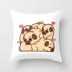Puglie Grumblie Throw Pillow