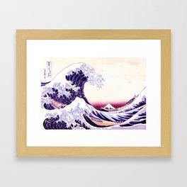 The Great wave purple fuchsia Framed Art Print