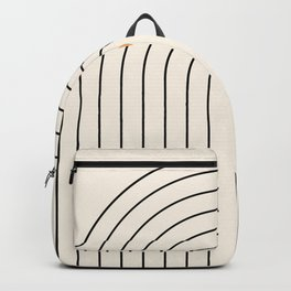 Mid Century Modern Geometric 37 ( Rainbow and Sun Abstraction) Backpack