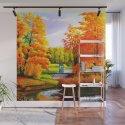 Tardis Art Bridge Forest Autumn by ardiansyahputra