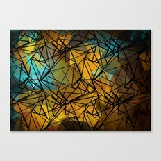 An abstract geometric pattern . Favorite . Canvas Print