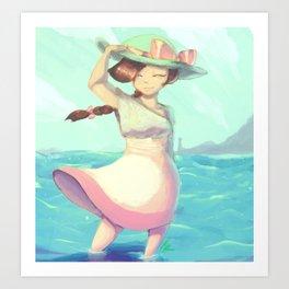 Seagirl Art Print