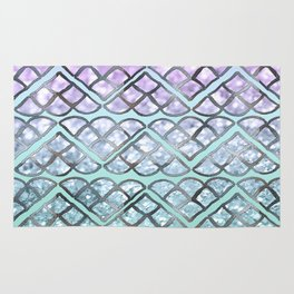 MERMAID Glitter Scales Dream #2 #shiny #decor #art #society6 Rug
