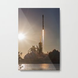 Spacex Rocket Launch Metal Print