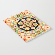 Pastel Carousel Black Circle Notebook