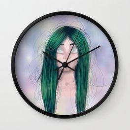 Pale eyes Wall Clock