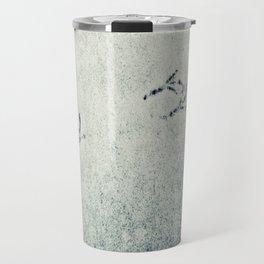 Bird Foot Prints Travel Mug