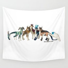 Fantastic Felted Beasts Wall Tapestry