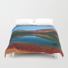 Somewhere in the Rockies Duvet Cover