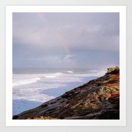 Rainbow Coast Art Print