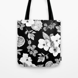 Night bloom - moonlit bw Tote Bag