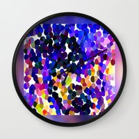 confetti Wall Clocks featuring Confetti by Art-Motiva
