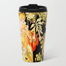 Marguerite's Bower, Mucha Travel Mug