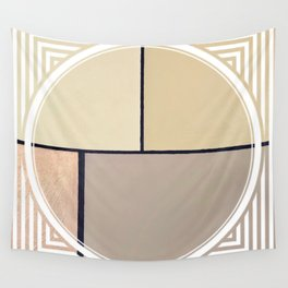 Toned Down - line/circle graphic Wall Tapestry