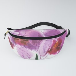 orchid phalaenopsis, watercolor sketch from nature Fanny Pack