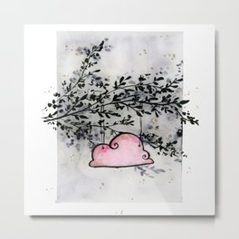Pink Cloud dwelling in the Dark Forest Metal Print
