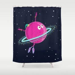 Space dancing Shower Curtain
