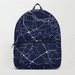 Dublin Street Map Navy Blue and White Backpack