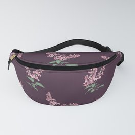 Lilac Flowers Spring Pattern Fanny Pack