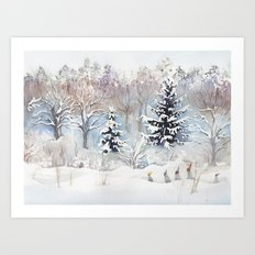 Tiny Elves Art Print