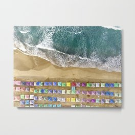 Aerial view of the beach in Mexico Metal Print