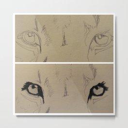 These eyes aren't lion. Metal Print
