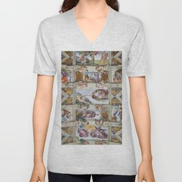 "Michelangelo Buonarroti ""Sistine Chapel ceiling"" Unisex V-Neck"