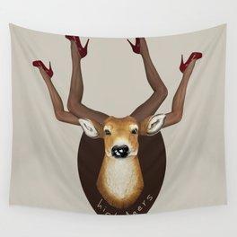 High Heels Deer Wall Tapestry