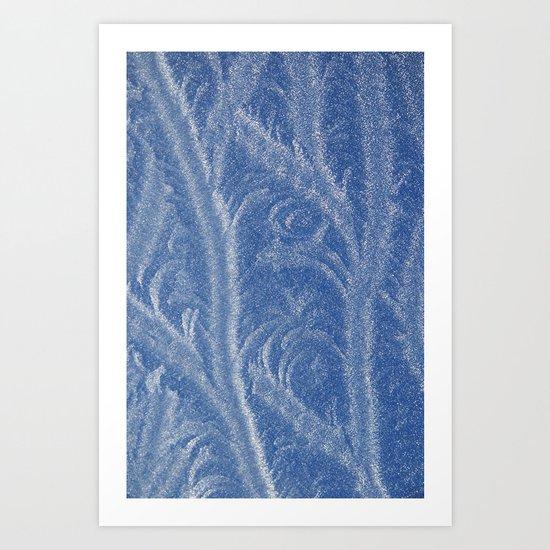 "Ice ""Feathers"" Art Print"