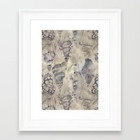 shells Framed Art Prints featuring Shells  by Laura Braisher