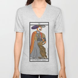 la fuerza visual Unisex V-Neck